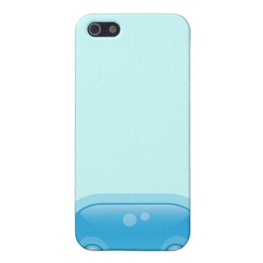 Caja azul del iPhone 4 del Bloop de Squishies iPhone 5 Carcasa