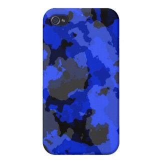 Caja azul del iPhone 4 del camuflaje iPhone 4/4S Funda