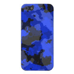 Caja azul del iPhone 4 del camuflaje iPhone 5 Cobertura