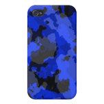 Caja azul del iPhone 4 del camuflaje iPhone 4 Funda