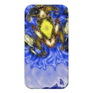 Caja azul del iPhone 4 del chapoteo de la rana iPhone 4 Protector