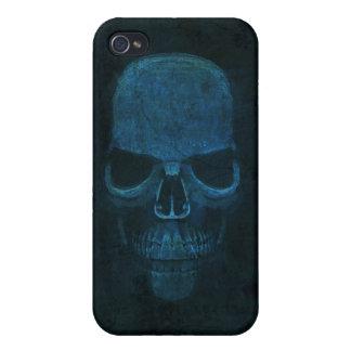 Caja azul del iPhone 4 del cráneo iPhone 4 Protectores
