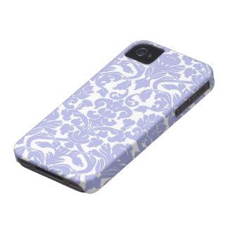 Caja azul del iPhone 4 del damasco Case-Mate iPhone 4 Cárcasas