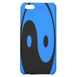 Caja azul del iPhone 4 del símbolo de Yin-Yang