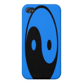 Caja azul del iPhone 4 del símbolo de Yin-Yang iPhone 4/4S Funda