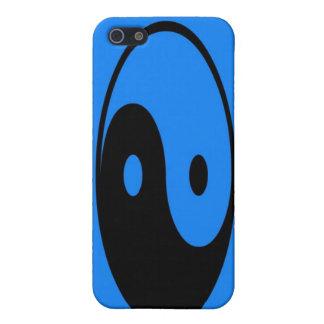 Caja azul del iPhone 4 del símbolo de Yin-Yang iPhone 5 Coberturas