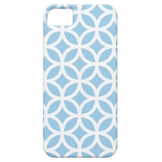Caja azul del iPhone 5/5S del Cornflower geométric iPhone 5 Fundas
