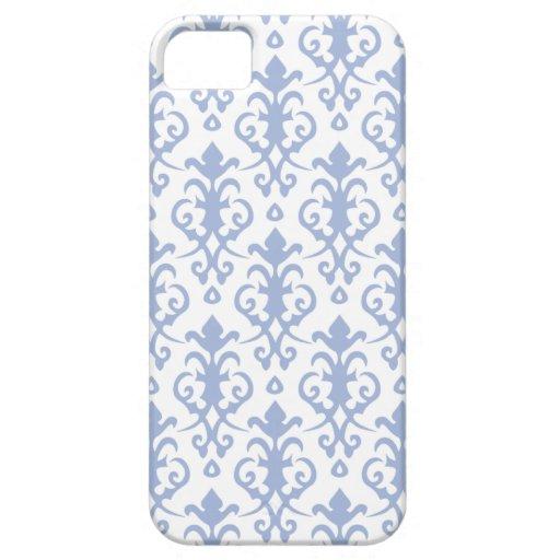Caja azul del iPhone 5/5S del damasco de la lavand iPhone 5 Case-Mate Coberturas