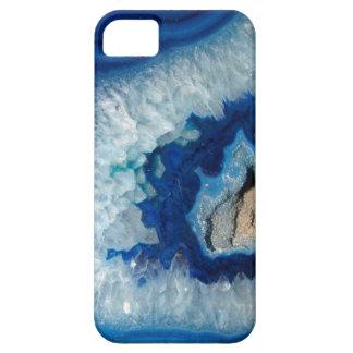 Caja azul del iPhone 5 de Geode de la ágata del Funda Para iPhone SE/5/5s