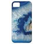 Caja azul del iPhone 5 de Geode de la ágata del za iPhone 5 Fundas
