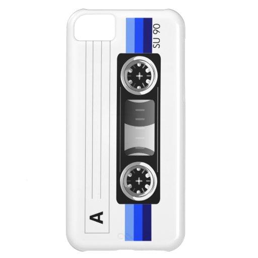 Caja azul del iPhone 5 de la etiqueta de la cinta