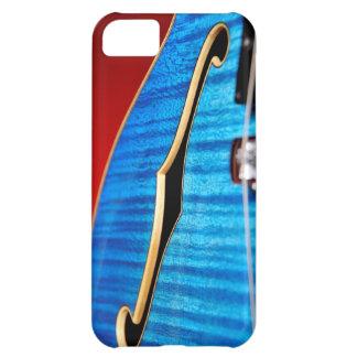Caja azul del iphone 5 de la guitarra funda para iPhone 5C