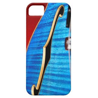 Caja azul del iphone 5 de la guitarra funda para iPhone SE/5/5s