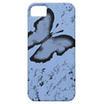 Caja azul del iPhone 5 de la mariposa iPhone 5 Cárcasas