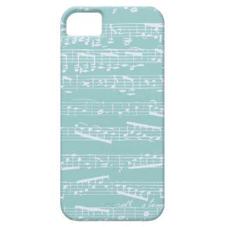 Caja azul del iphone 5 de la nota de la música funda para iPhone SE/5/5s