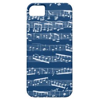 Caja azul del iphone 5 de la partitura funda para iPhone SE/5/5s