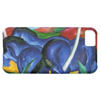 Caja azul del iPhone 5 de los caballos de Franz Ma
