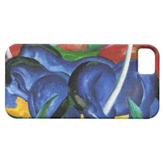 Caja azul del iPhone 5 de los caballos de Franz Ma iPhone 5 Case-Mate Fundas