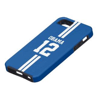 Caja azul del iPhone 5 de Obama del jugador de Funda Para iPhone 5 Tough