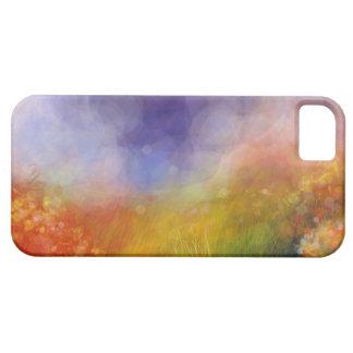 Caja azul del iPhone 5 del campo del arco iris iPhone 5 Cárcasas