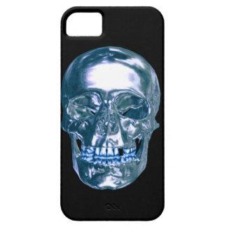 Caja azul del iPhone 5 del cráneo del cromo iPhone 5 Fundas