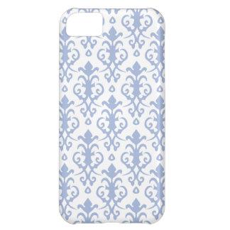 Caja azul del iPhone 5 del damasco de la lavanda