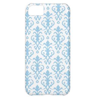 Caja azul del iPhone 5 del damasco del Cornflower Funda Para iPhone 5C