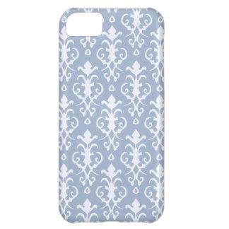 Caja azul del iPhone 5 del damasco