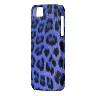 Caja azul del iPhone 5 del estampado leopardo iPhone 5 Case-Mate Protector