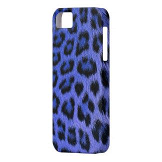 Caja azul del iPhone 5 del estampado leopardo iPhone 5 Fundas