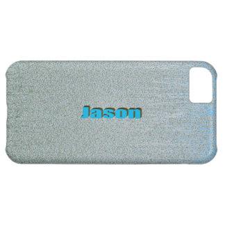 Caja azul del iPhone 5 del rasguño para Jason