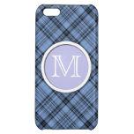 Caja azul del iPhone 5C de la tela escocesa del Co