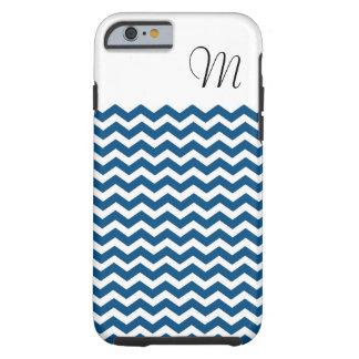 Caja azul del iphone 6 de Chevron Funda Resistente iPhone 6