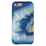 Caja azul del iPhone 6 de Geode de la ágata del Funda Para iPhone 6 Tough