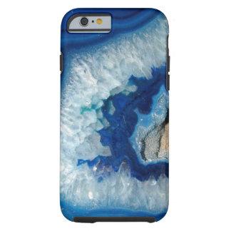 Caja azul del iPhone 6 de Geode de la ágata del Funda Resistente iPhone 6
