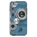 Caja azul del iPhone 6 de la cámara