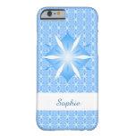 Caja azul del iPhone 6 de la forma del diamante Funda De iPhone 6 Barely There