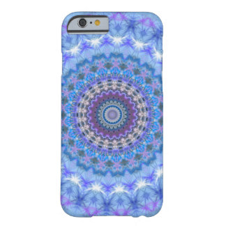 Caja azul del iPhone 6 de la mandala Funda De iPhone 6 Barely There