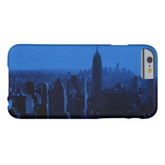 Caja azul del iPhone 6 de New York City del arte Funda Barely There iPhone 6