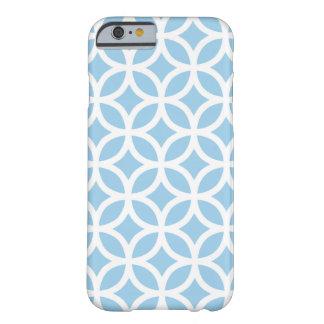 Caja azul del iPhone 6 del Cornflower geométrico Funda De iPhone 6 Slim