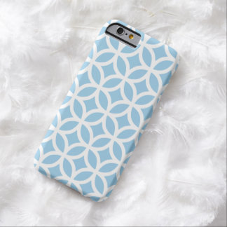 Caja azul del iPhone 6 del Cornflower geométrico Funda Barely There iPhone 6