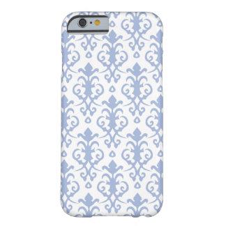 Caja azul del iPhone 6 del damasco de la lavanda