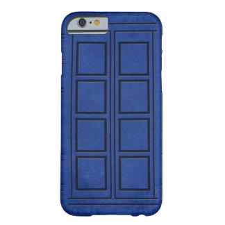 Caja azul del iPhone 6 del diario de la caja de Funda De iPhone 6 Barely There