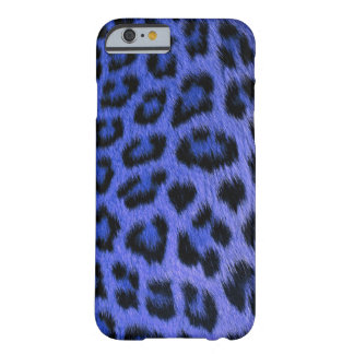 Caja azul del iPhone 6 del leopardo (altos res.) Funda De iPhone 6 Barely There