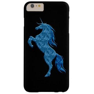 Caja azul del iPhone 6 del unicornio del fuego Funda De iPhone 6 Slim