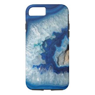 Caja azul del iPhone 7 de Geode de la ágata del Funda iPhone 7
