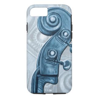Caja azul del iPhone 7 de la voluta del cabezal Funda iPhone 7