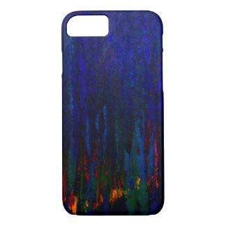 """Caja azul del iPhone 7 de los """"árboles de hoja Funda iPhone 7"""