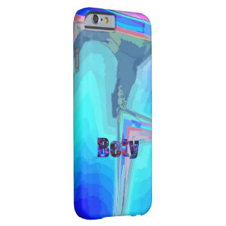 Caja azul del iPhone de Bety que vetea Funda Para iPhone 6 Barely There