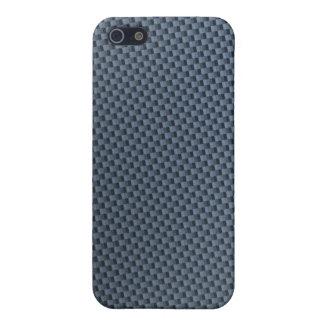 Caja azul del iphone de la fibra de carbono iPhone 5 carcasas